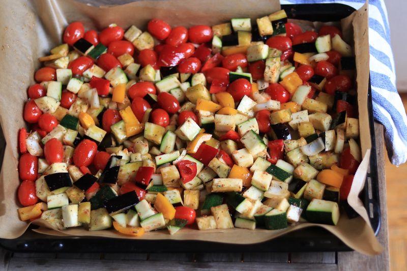 priprema povrca za ratatouille