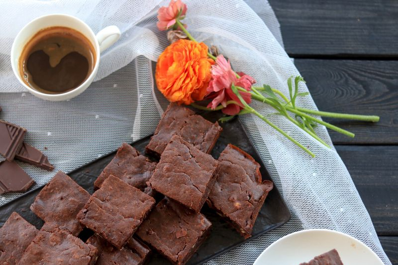 vege espresso brownies