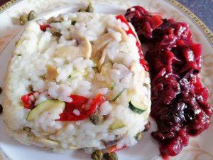 veganski rižoto s tikvicama i šampinjonima